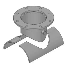 Welded Pipe Saddle & Pipe Welding Flange / Steel / Saddle Tee